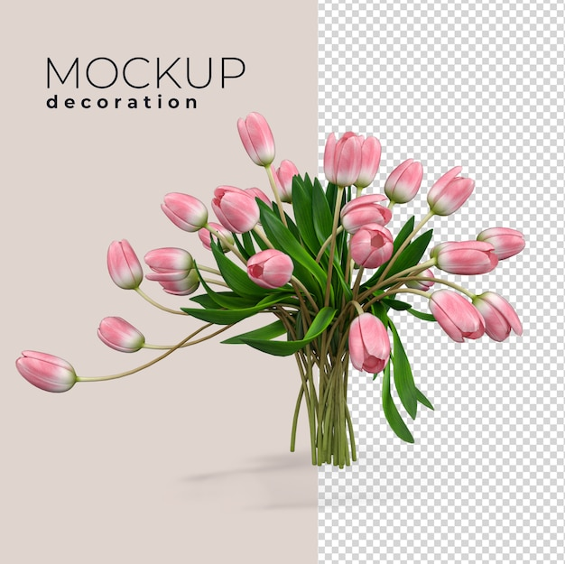 Blumen innendekoration in 3d rendern