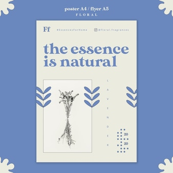 Blumenessenzplakatdesign