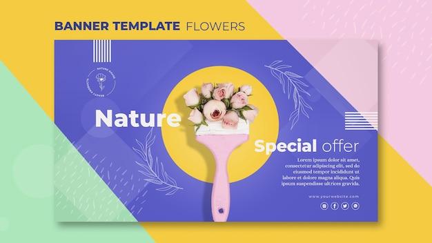 Blumenkonzept-bannerschablone