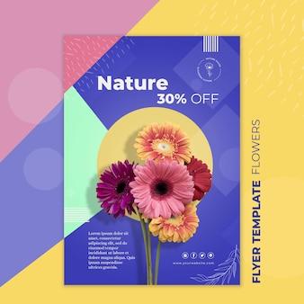Blumenkonzept flyer vorlage