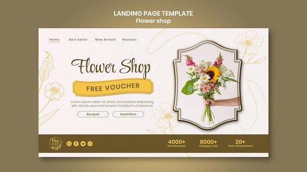 Blumenladen kostenlose gutschein-landingpage