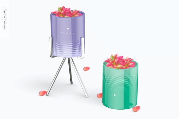 Blumentopf mit metallständermodell