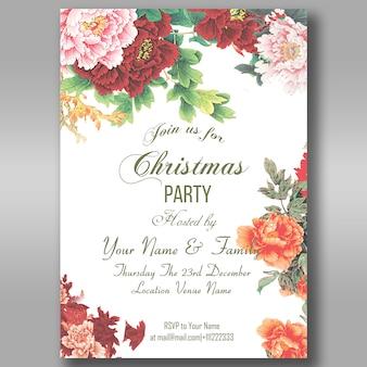 Blumenweihnachtsfeier-einladungs-flieger