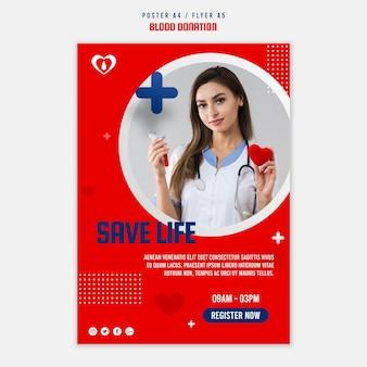 Blutspende plakatvorlage