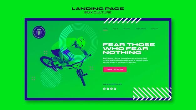 Bmx kulturkonzept landingpage vorlage