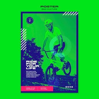 Bmx kulturkonzept poster vorlage