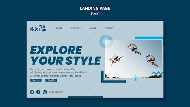 Bmx shop landing page vorlage