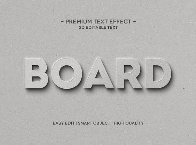 Board text effect style vorlage