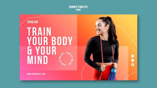 Body training banner vorlage