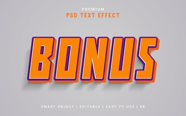 Bonus-texteffektgenerator