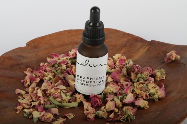 Bouteille huile kosmetik-modell
