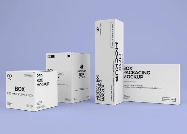 Box collection mockup design