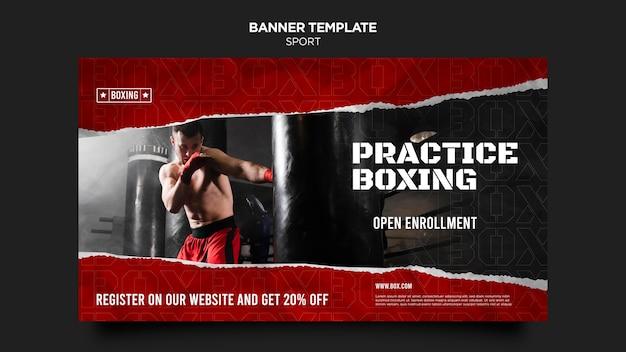 Box horizontale banner vorlage
