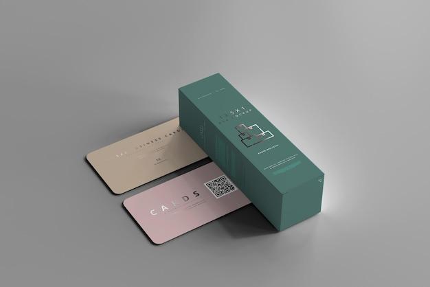 Box mit visitenkarten-modell