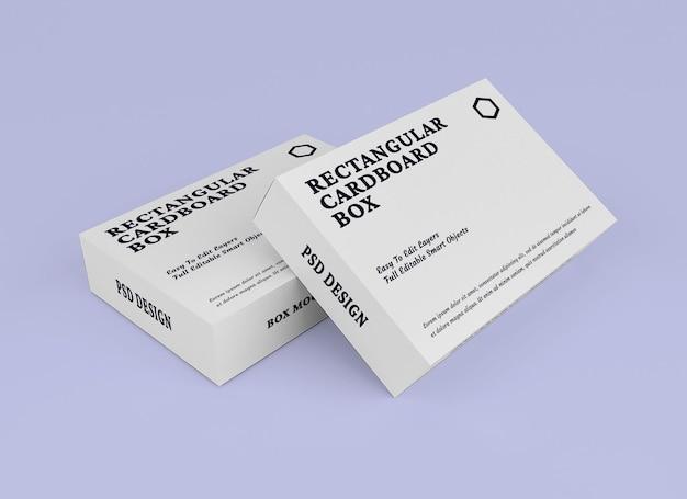 Box-mockup-design im verpackungskonzept