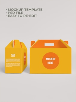 Box-papier-verpackungsmodell