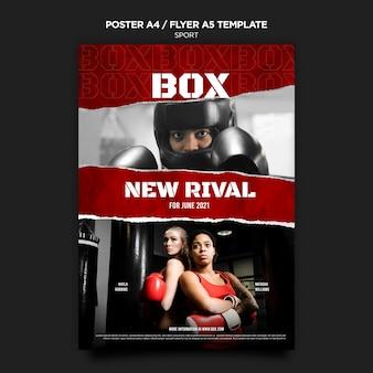 Box poster und flyer vorlage