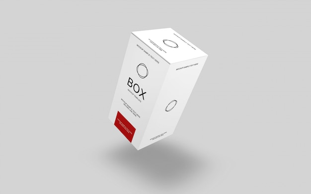 Box verpackung 3d-ansicht modell
