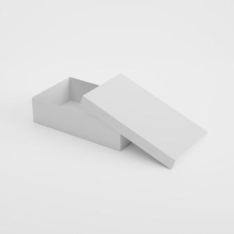 Box-verpackungsproduktmodell in der 3d-wiedergabe