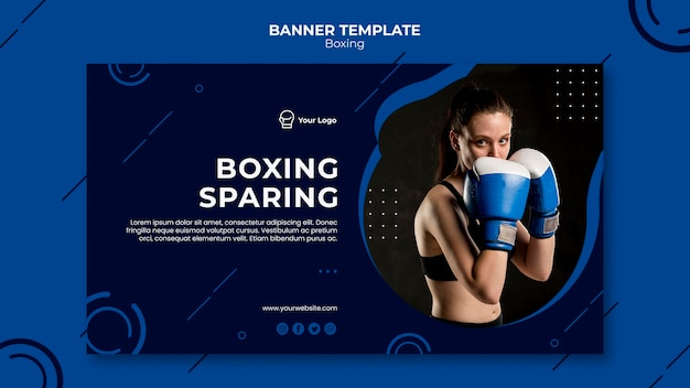 Boxen sparsame workout fit banner vorlage