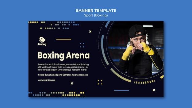 Boxing ad banner vorlage