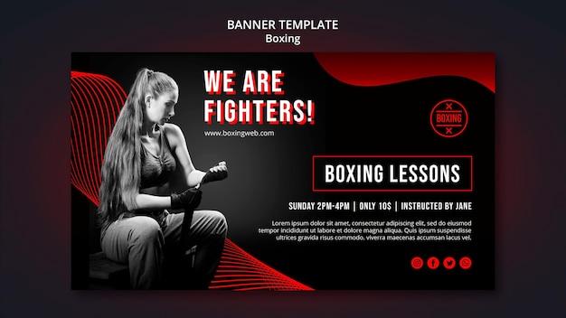 Boxing banner vorlage mit foto