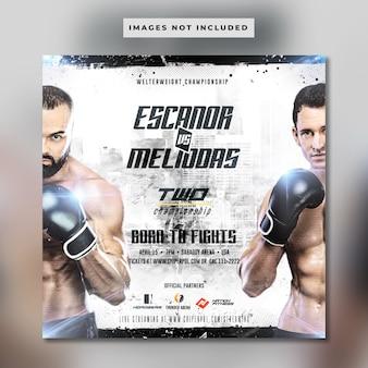 Boxing banner vorlage