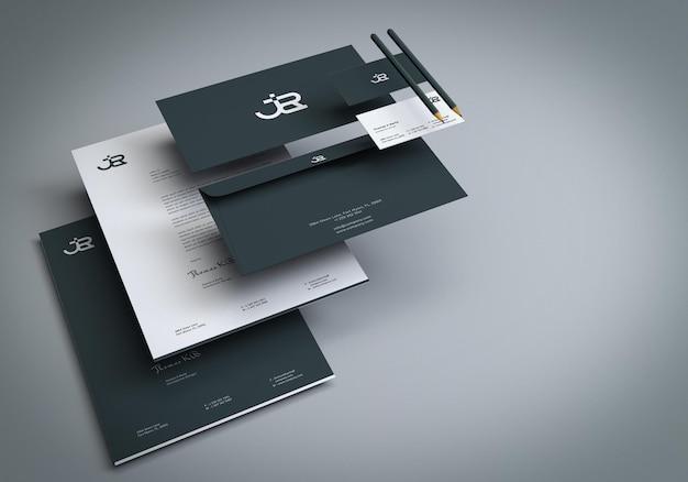 Branding-briefpapier-mockup-präsentation