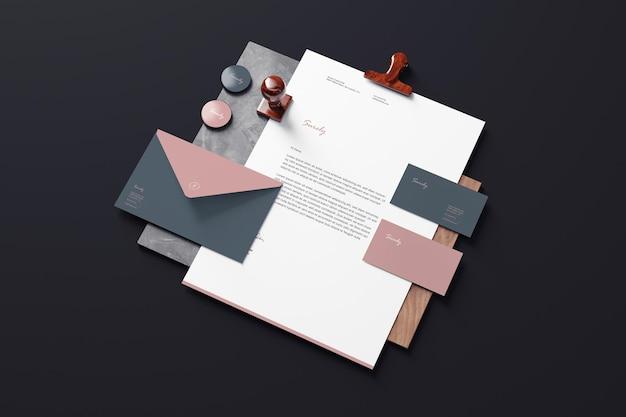 Branding briefpapier modelle Premium PSD