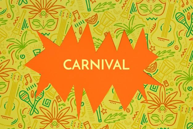 Brasilianischer karnevalsausschnitt