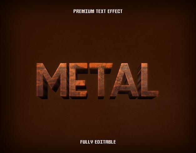 Brauner metall 3d grunge-texteffekt