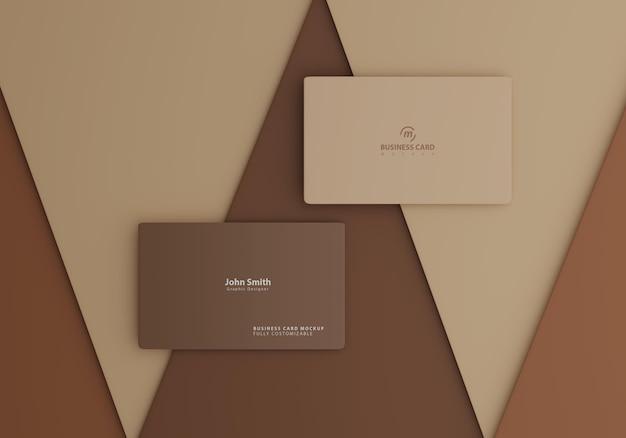 Braunes einfaches visitenkartenmodell