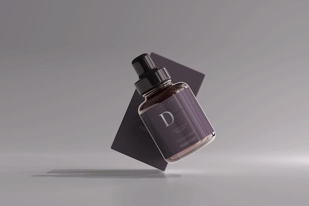 Braunglas-tropfflasche mit box-modell