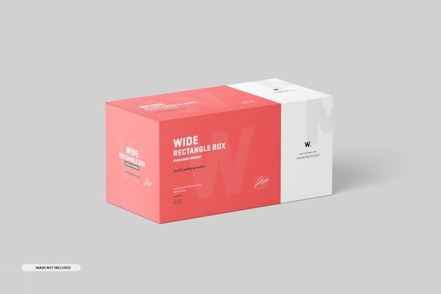 Breites rechteckiges box-modell