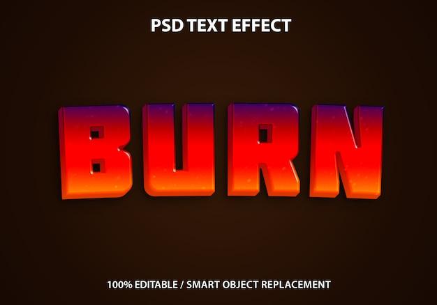 Brennen sie den texteffekt