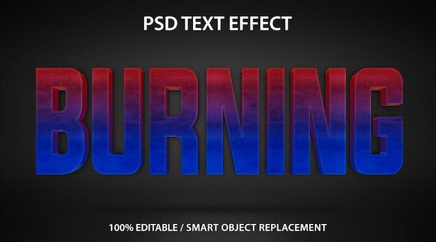 Brennende vorlage für texteffekte