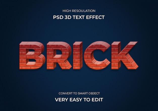 Brick 3d text effekt