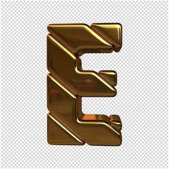 Brief aus gold 3d rendering isoliert