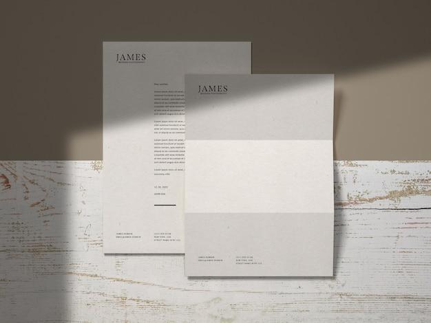 Briefkopf briefpapier modell