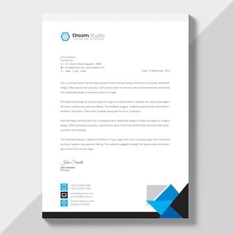 Briefkopfvorlage in flachen stil Kostenlosen PSD