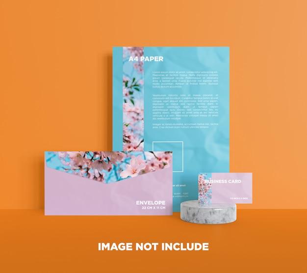 Briefpapier-branding-modell