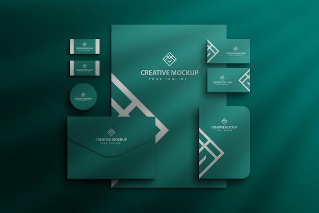 Briefpapier-branding unternehmensansicht firmenmarke mockup premium psd