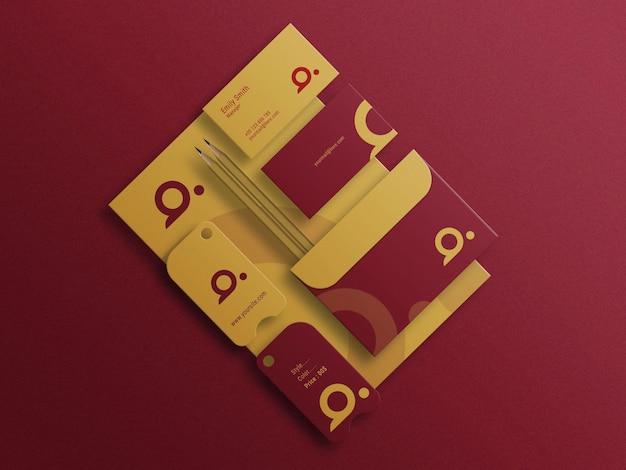 Briefpapier-logo-mockup-präsentation photoshop-datei