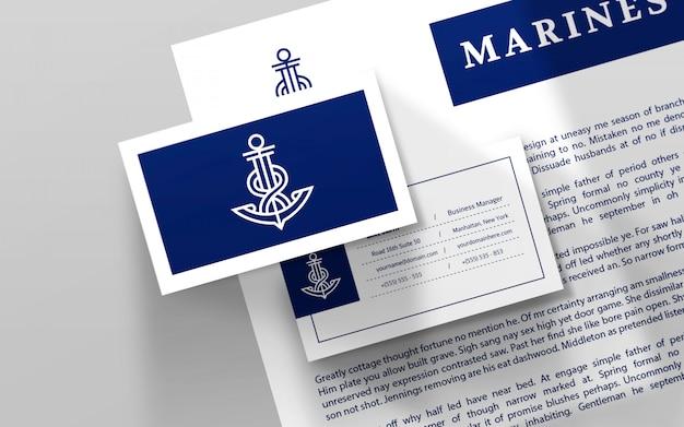 Briefpapier logo vorlage