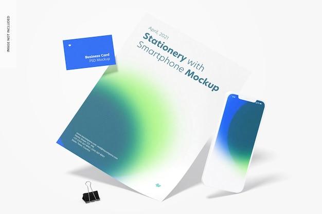 Briefpapier mit smartphone-modell