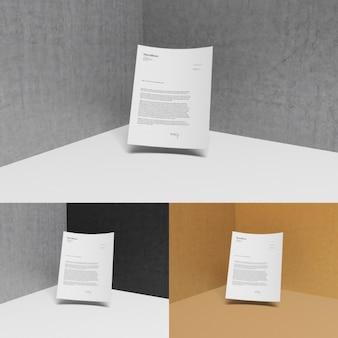 Briefpapier mit unterschiedlichen hintergründen mock-up