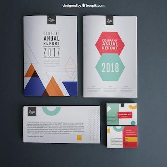 Briefpapier-modell-vorlage