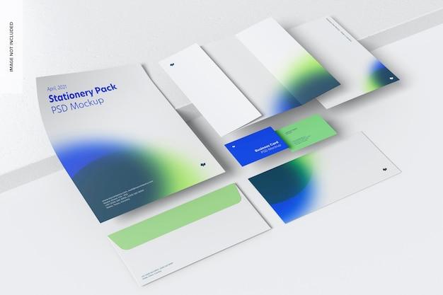 Briefpapier-szenenmodell, perspektivansicht 02