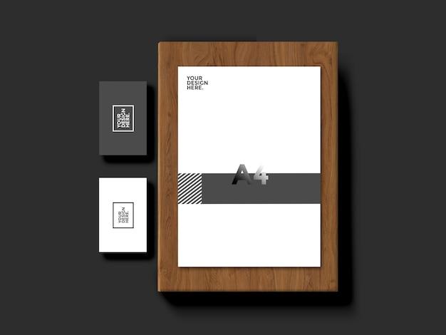 Briefpapier visitenkarte modell