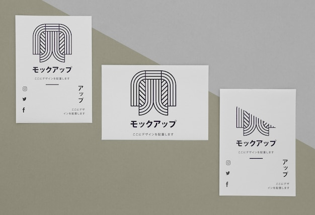 Briefpapierdokumente mit logo-modell